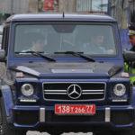 Красный номер на машине в России в Москве